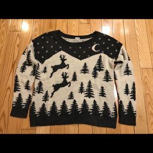 Women's Reindeer Sweater Size SP